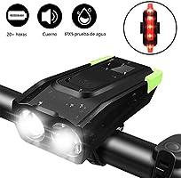 TECHVIDA Bicycle Lights, Bike headlamp 4000mAh USB Rechargeable 800 Lumens Super Bright LED Powerful Light Bike Front...