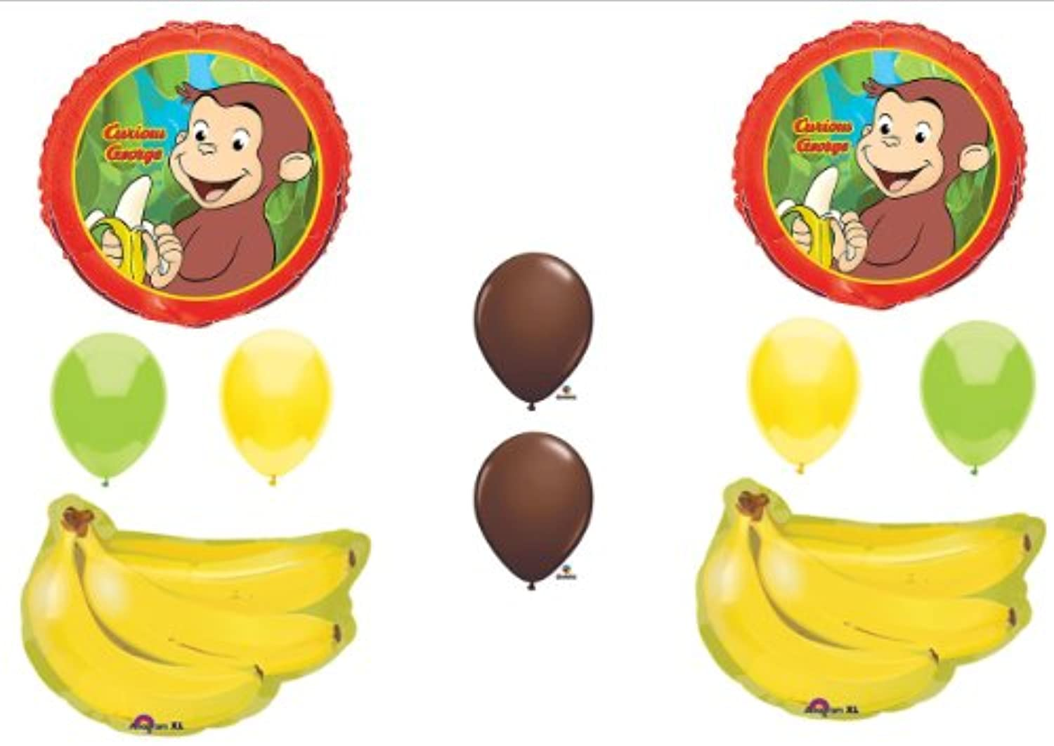 CURIOUS GEORGE BIRTHDAY PARTY Balloons Decorations Supplies Monkey Bananas by Anagram [並行輸入品]