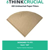400 Replacements for Unbleached Natural Brown Paper Coffee Filters by Think Crucial ? Compatible with Hario V60 Coffee Makers [並行輸入品]