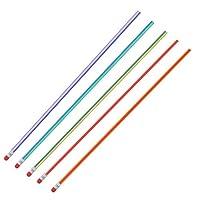 ソフトペンシル フレキシブルペンシル ソフト鉛筆 5個セット キラキラフレキシブル 子供用 学生用 学校 事務所用 ギフト グラファイト PVC素材 筆記 絵付け 消しゴム付き
