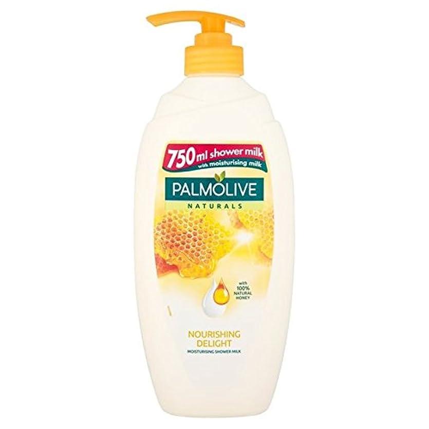 責任爆発物踊り子Palmolive Naturals Nourishing Shower Naturals Milk with Honey 750ml - 蜂蜜の750ミリリットルとシャワーナチュラルミルク栄養パルモライブナチュラル [...