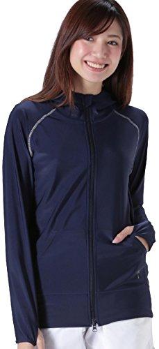 ICEPARDAL(アイスパーダル) 全20色 レディース 無地 ラッシュガード パーカー IR-7100 ネイビー W3Lサイズ UPF50 + 長袖 ラッシュパーカー 指穴つき 体型カバー 女性用 水着 おしゃれ かわいい 人気 ネイビー 紺色 大きいサイズ