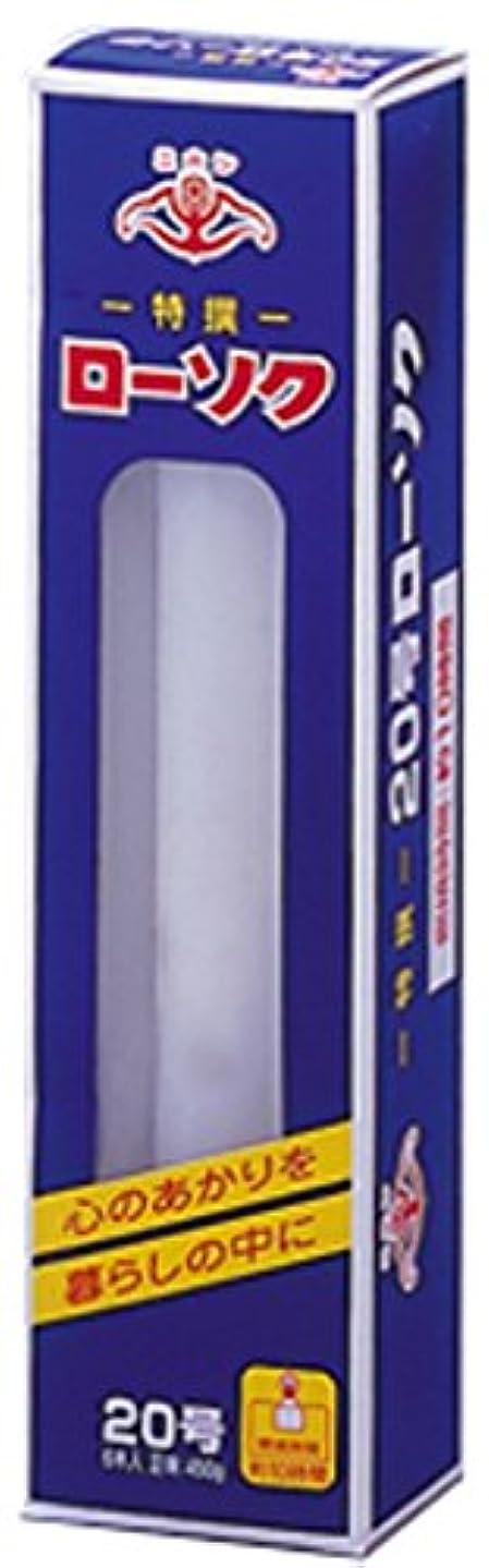 吸収剤閲覧するいたずらニホンローソク 大20号 450g