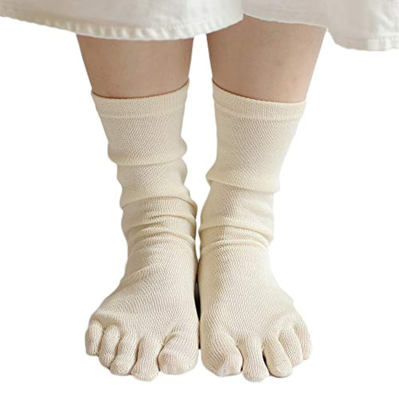 ペルメル素晴らしさベストタイシルク 100% 五本指 ソックス 3足セット かかとあり 上質なシルクを100%使用した薄手靴下 重ね履きのインナーソックスや冷えとりに
