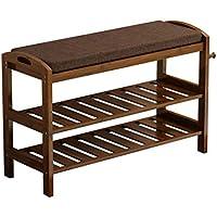 靴ラックスポンジ靴のベンチ無垢材2層のホームドアの変更靴のベンチ (サイズ さいず : 51センチメートル)