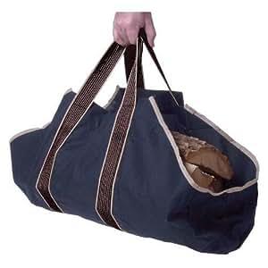 薪 まき  持ち運び用 帆布 ログ トート キャリー バッグ bag ブラック