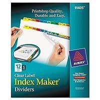 Averyインデックスメーカーディバイダー、マルチカラー12-tab、手紙、5セット/パック
