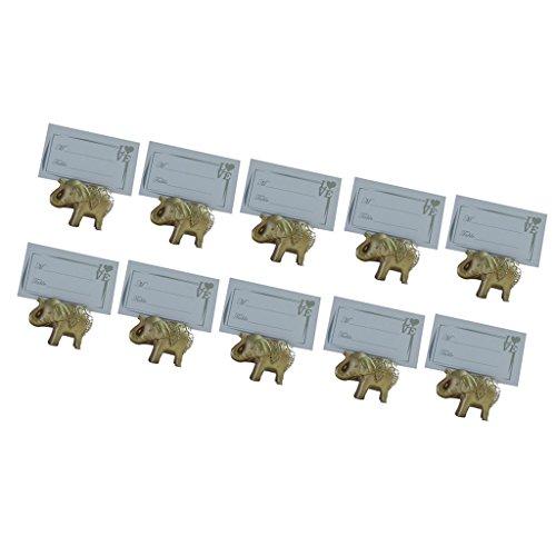 [해외]Dovewill 10 세트 신부 파티 자리 꼬리표 황금 코끼리 디자인 장식 테이블 장소 카드 홀더/Dovewill 10 sets bridal party bill seat golden elephant design decoration table location card holder