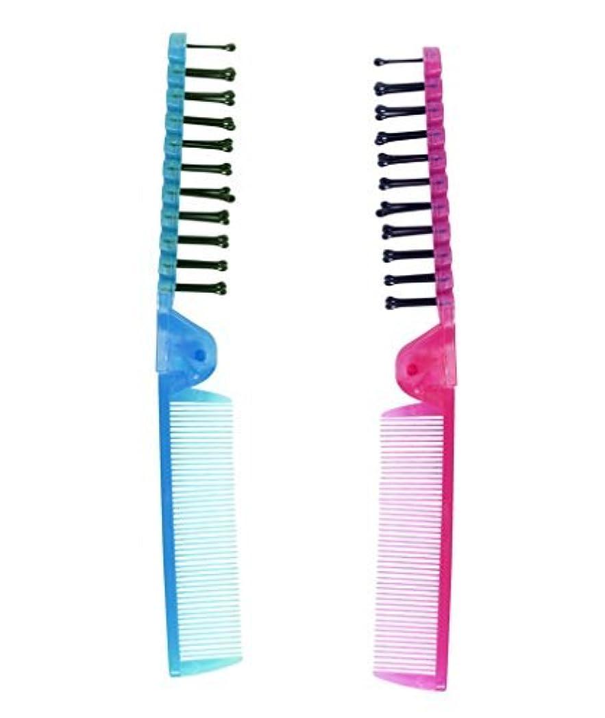 実行する拒絶する推定LaMi Foldable Travel Brush and Comb Set, 2 Count per Pack - 2 Packs [並行輸入品]