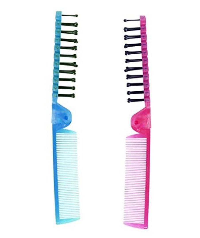 父方の居間居間LaMi Foldable Travel Brush and Comb Set, 2 Count per Pack - 2 Packs [並行輸入品]