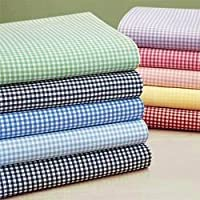 Green Gingham Fitted Crib/Toddler Sheet by Baby Doll