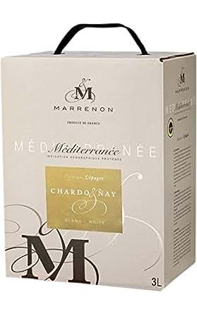 マレノン メディテラネー3L シャルドネ 箱ワイン Indication geographique protegee Mediterranee 3LBIB Merot