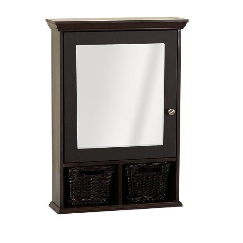 省略する石化する実質的Zenith TH22CH, Medicine Cabinet with Wicker Baskets, Espresso by ZPC Zenith Products Corporation