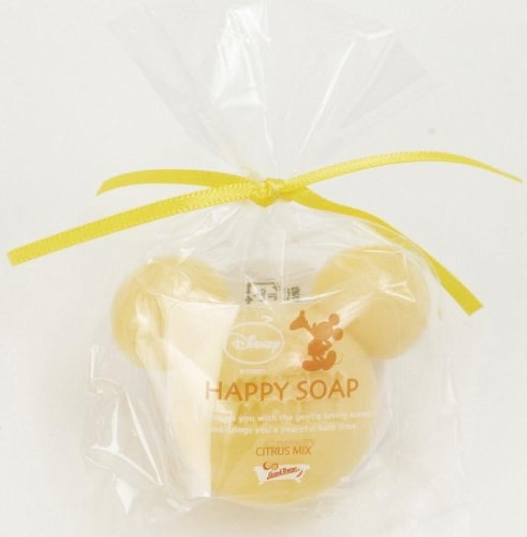 良いアクセシブル平均ミッキーマウスのプチギフト ハッピーソープ イエロー(オレンジの香り)
