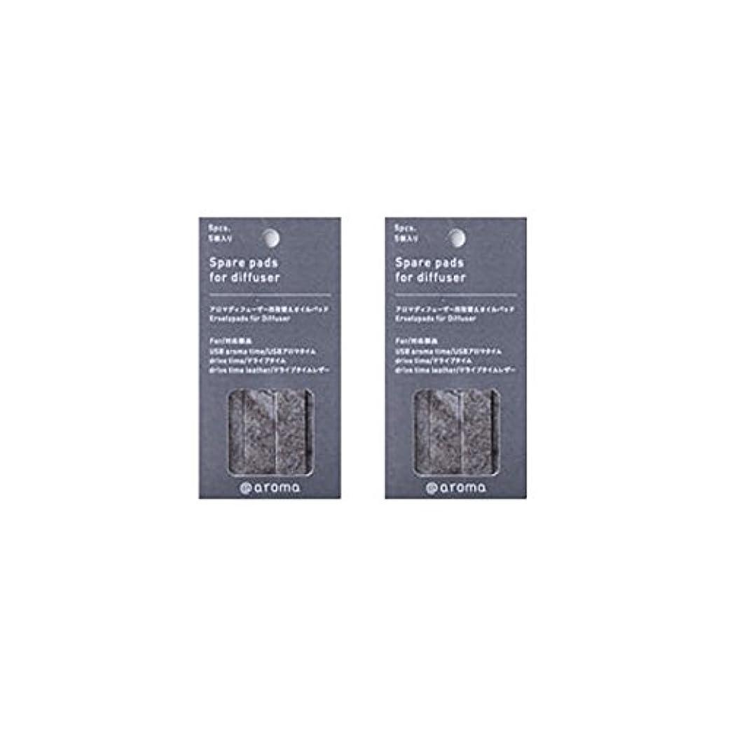 慰めメリーラフアットアロマ 取替えオイルパッド 5枚入 (2個セット) (ドライブタイム/USBアロマタイム用)