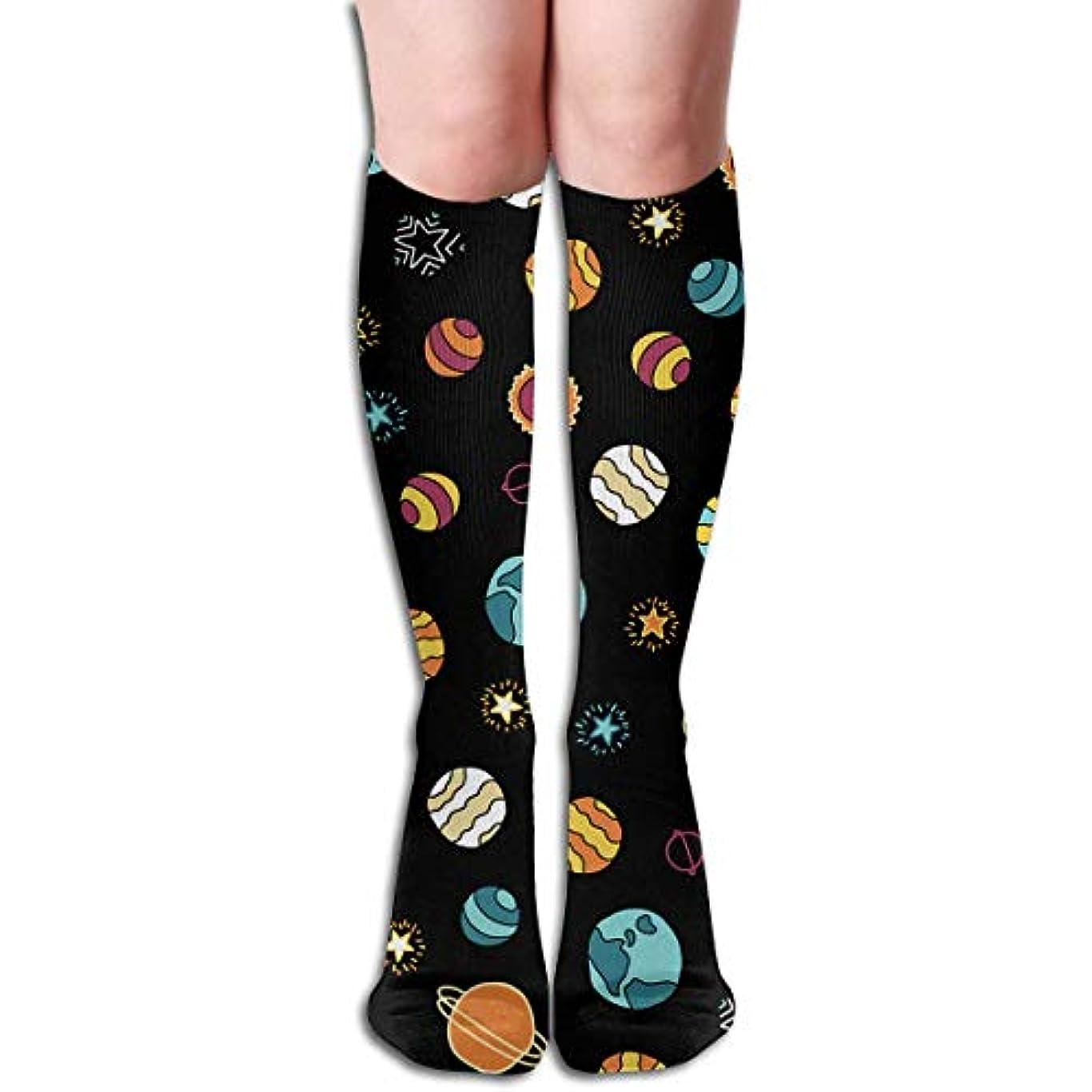 くしゃみ通行料金キモいqrriyスペース銀河チューブストッキングレディース冬暖かい膝ハイソックスブーツ靴下