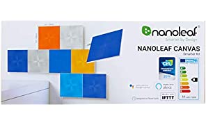 NANOLEAF Canvas Smarter Kit - 9 PackLight Panels | Canvas Edition Smarter Kit (9 Panels)