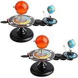 Perfeclan 三球儀 地球月軌道モデル 太陽系モデル 天体運動模型 子供 入学/誕生日 プレゼント 2点入