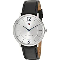 Tommy Hilfiger Men's 'Sophisticated Sport' Quartz Stainless Steel and Leather Casual Watch, Color:Black (Model: 1710351)