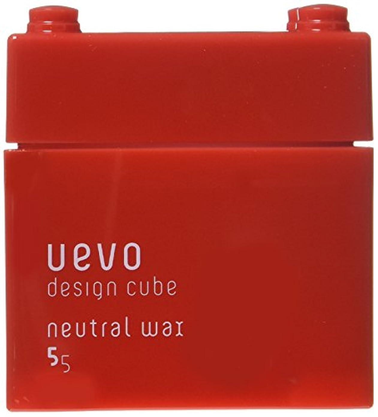に沿って経済的好意ウェーボ デザインキューブ ニュートラルワックス 80g