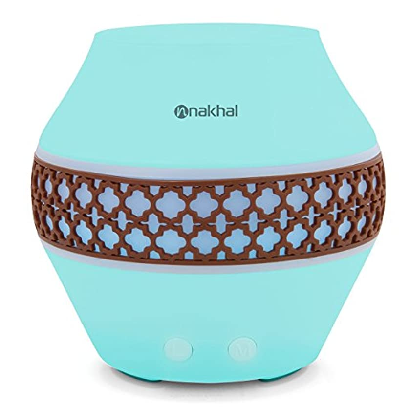 Nakhal 120 ml Aromatherapy Essential Oil Diffuser、超音波クールなミスト加湿器で7色LEDライト変更 – Classical