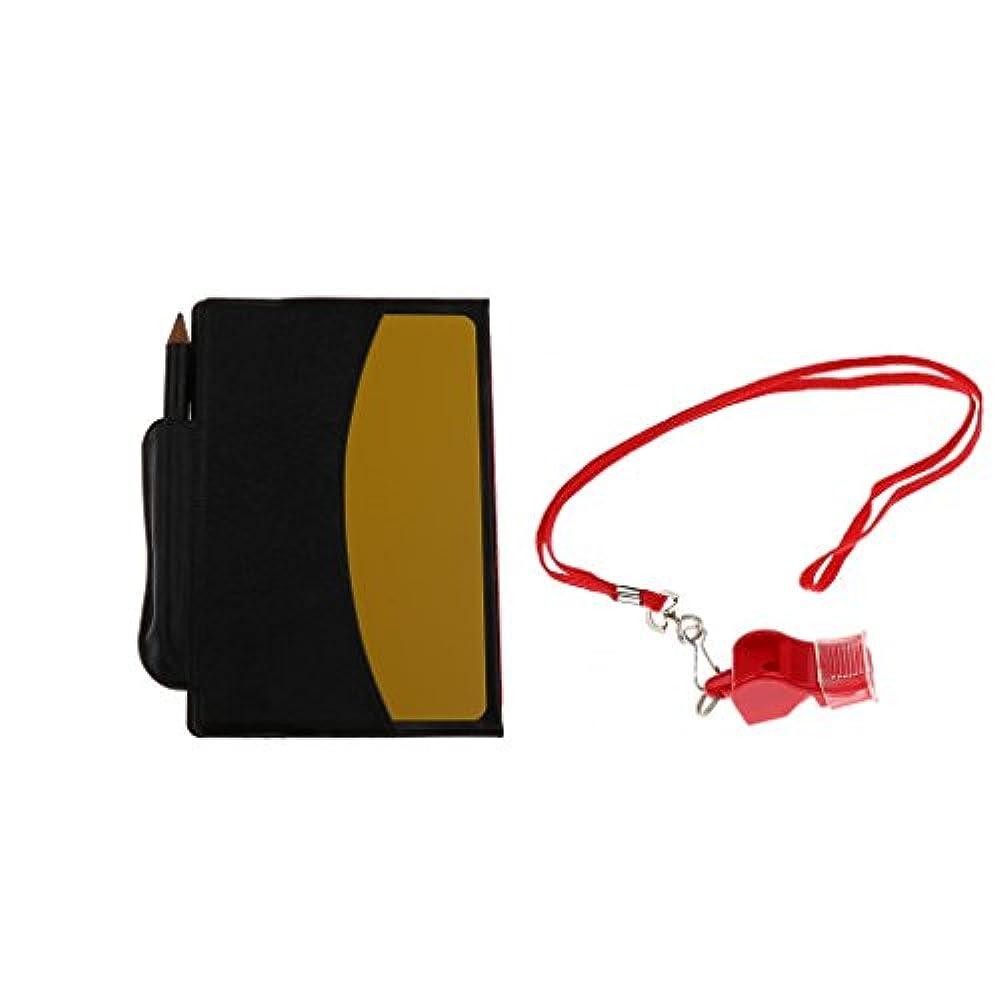 親川ええFlameer 多機能 PVCカード 審判用 警告カード 財布式 交通 サッカー用 コーチホイッスル付き 赤/黄色カード