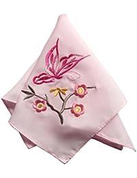 エレガントな2pcs Ladiesハンカチ刺繍ハンカチ、バタフライ
