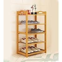 靴ラックナチュラル竹木製シンプルな靴ラックストレージオーガナイザーホルダーマルチレイヤー多機能ストレージシェルフ