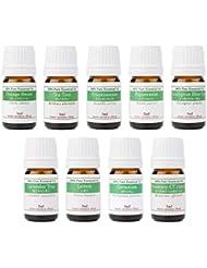 【2019年改訂版】ease AEAJアロマテラピー検定香りテスト対象精油セット 揃えておきたい基本の精油 2級 9本セット各5ml