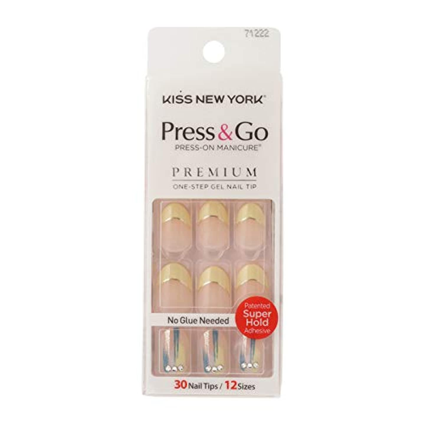 やけどおじさんカートキスニューヨーク (KISS NEW YORK) KISS NEWYORK ネイルチップPress&Go BHJ32J 19g