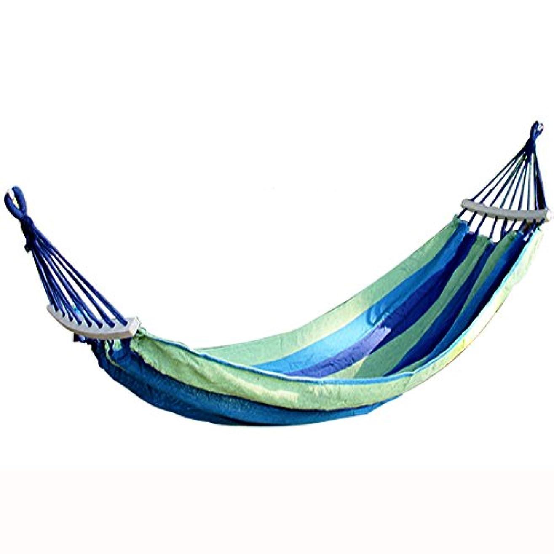 風性的ジョージバーナード屋外の大人のキャンプのハンモック、木の棒が付いている横の回転を防ぐキャンバス、寮の掛かる椅子、200 * 100 cm