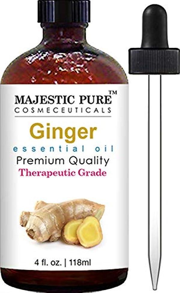 タフ代表して学習Ginger Root Essential Oil From Majestic Pure, Therapeutic Grade, Pure and Natural, 4 fl. oz. by Majestic Pure