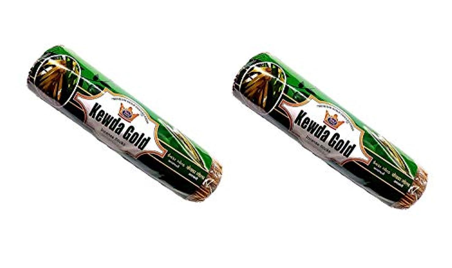 タンパク質曲がった見物人Kevda Gold Insense Sticks Pack of 2 (250g x 2)