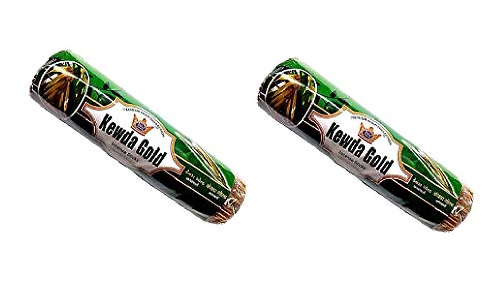 扇動タイルぎこちないKevda Gold Insense Sticks Pack of 2 (250g x 2)