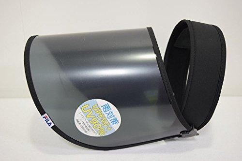 (フィラ)FILA機能的な可動式タイプ クリップバイザーサンバイザー313006帽子レディース婦人ハット日除け紫外線対策UVケアUVカットスポーツウォーキングファッションオシャレ雨対策ネット通販オールシーズン(ブラック)