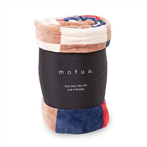 mofua(モフア)毛布 シングル チェック柄レッド 1年間品質保証 静電気防止加工 プレミアムマイクロファイバー 500001C8