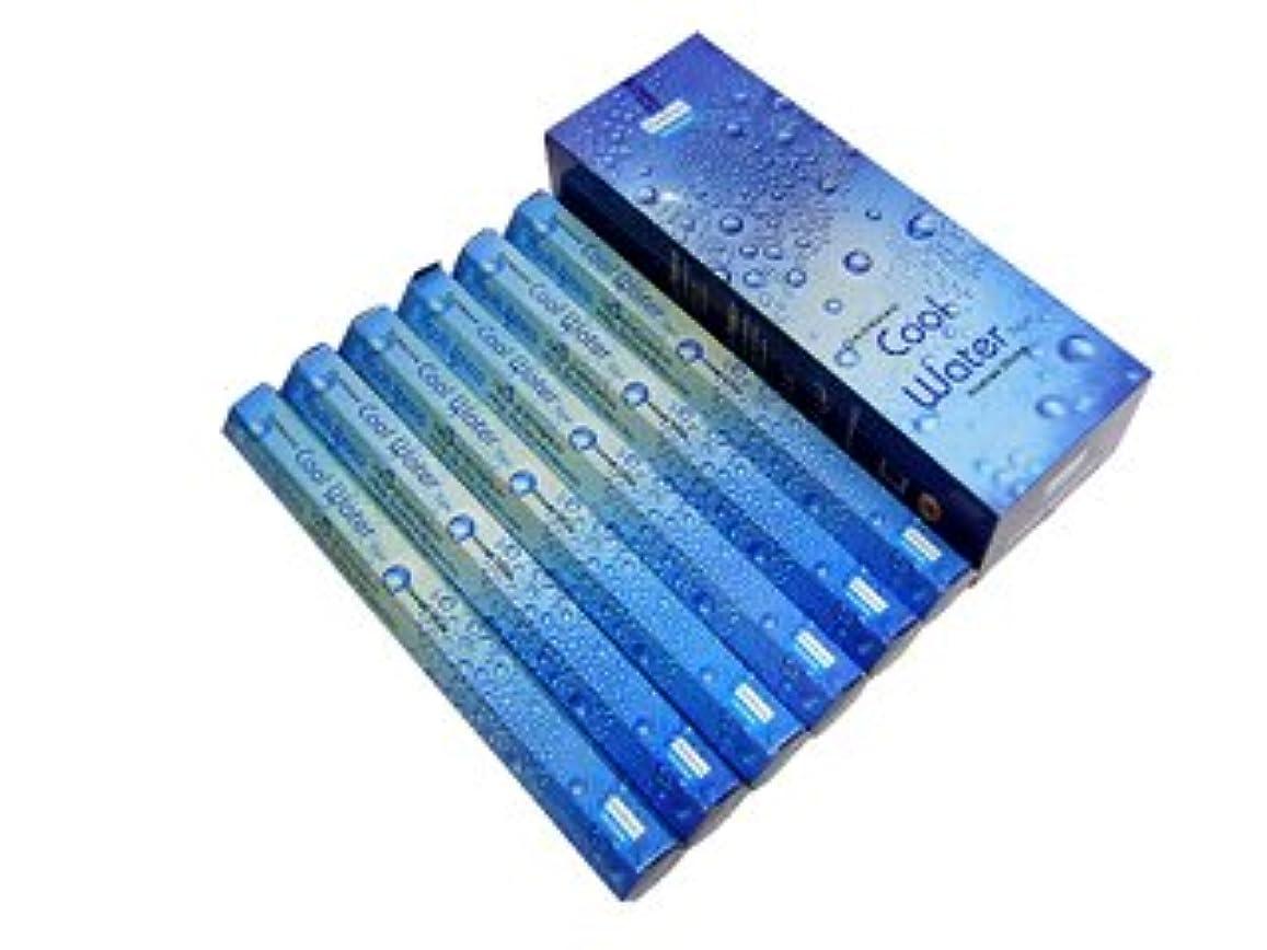 郵便アークプラグDARSHAN(ダルシャン) クールウォーター香 スティック COOL WATER 6箱セット