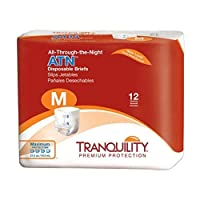 Tranquility ATN All-Through-the-Night Disposable Briefs - Medium - - Case of 96 by Principle Business Enterprises