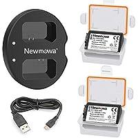 Newmowa NP-FW50 互換バッテリー 2個+充電器 対応機種 NP-FW50 Alpha a5000 a5100 Alpha a6000 a6300 a6500 Alpha 7 a7 7R a7R a7RM2 7S a7S aNEX-5 aNEX-5N aNEX-5R NEX-5 ILCE-QX1 Cyber-shot RX10 IV