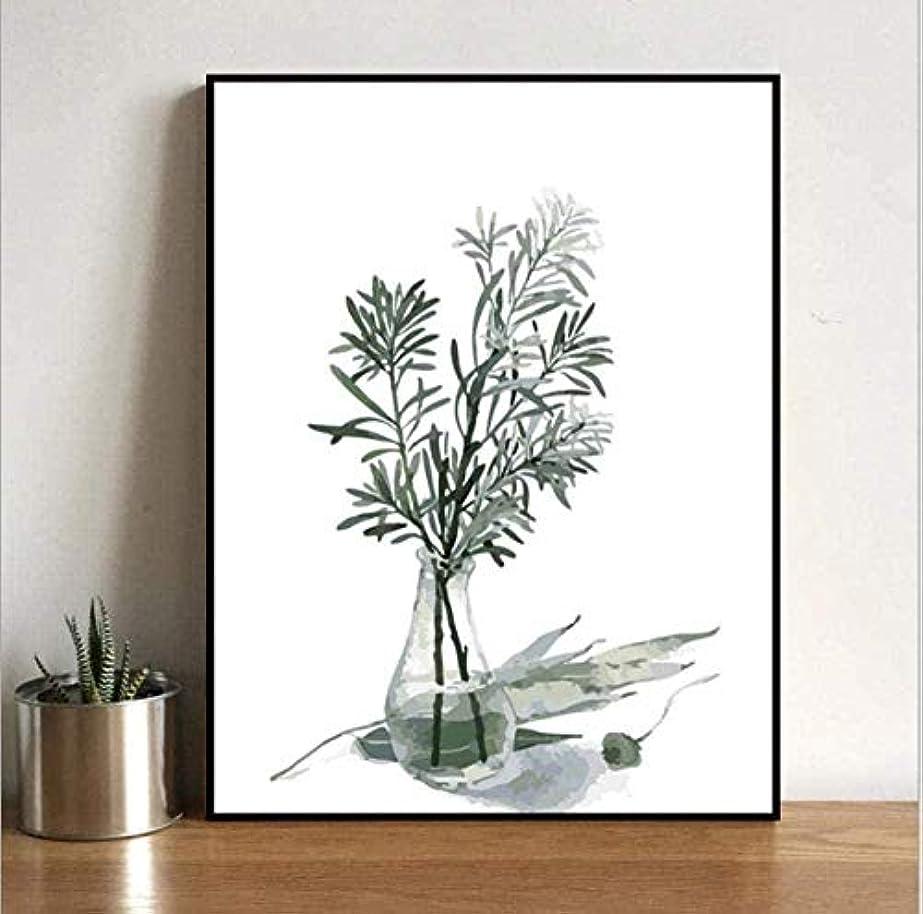 どちらもウサギエイリアンHNZYF DIYデジタル油絵手描きのカラー絵画新鮮な植物の寝室のリビングルームのソファの装飾絵画40x50cmフレームレス