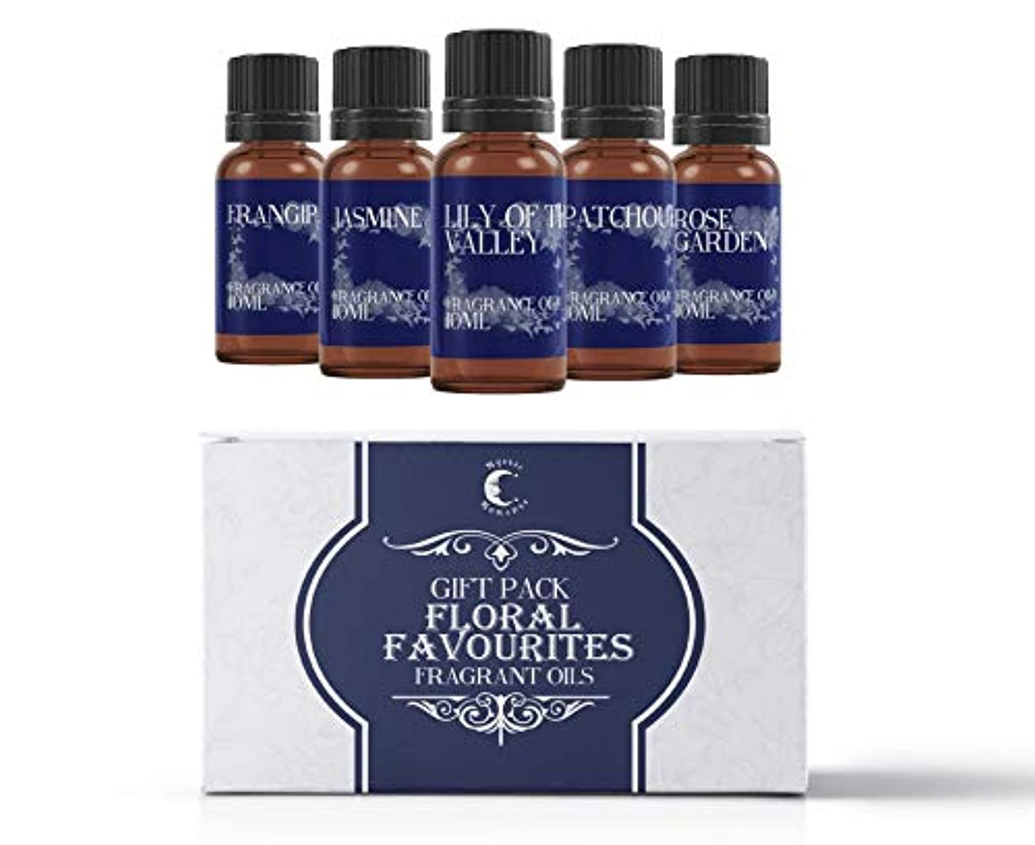 地味な農学マイクMystic Moments | Fragrant Oil Starter Pack - Floral Favourite Oils - 5 x 10ml