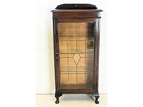 【送料無料】bk-11 1920年代イギリス製アンティーク オーク ステンドグラス スモール ブックケース 本棚 書棚 【英国】 【レトロ】 【ビンテージ】 【家具】 【マガジンラック】 【クラシック】