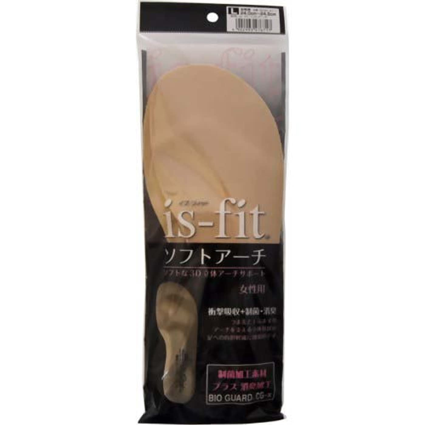 お香禁輸除外するis-fit(イズフィット) ソフトアーチ 女性用 L