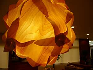 木製ランプシェード【日本製】【大川家具】 【組み立て式】(木星)