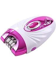 ポータブル脱毛器、摘採装置、3-In-1多機能シェーバー、Abs +合金、エレガントパープルユニセックス、剃毛脚、プライベートパーツ、剃毛