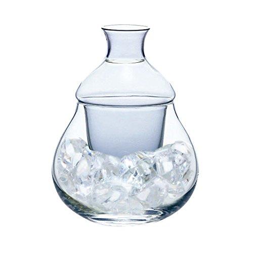 カラフェ 氷 ポケット 付き 冷酒 ガラス ピッチャー 220ml 65222DV