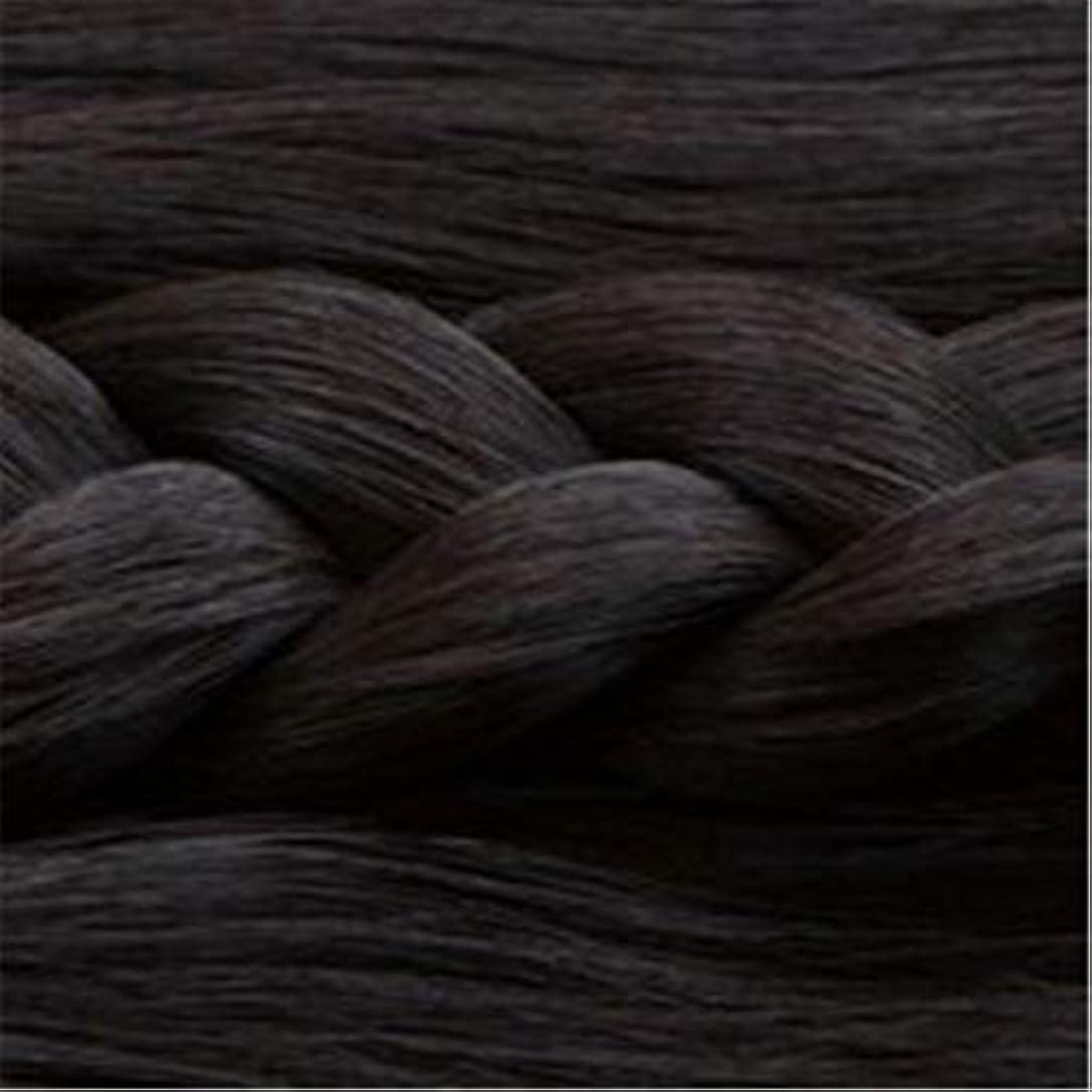 アルカイックナプキン津波女性の長いストレートの髪マイクロ梨かつらのセットをWIG,1