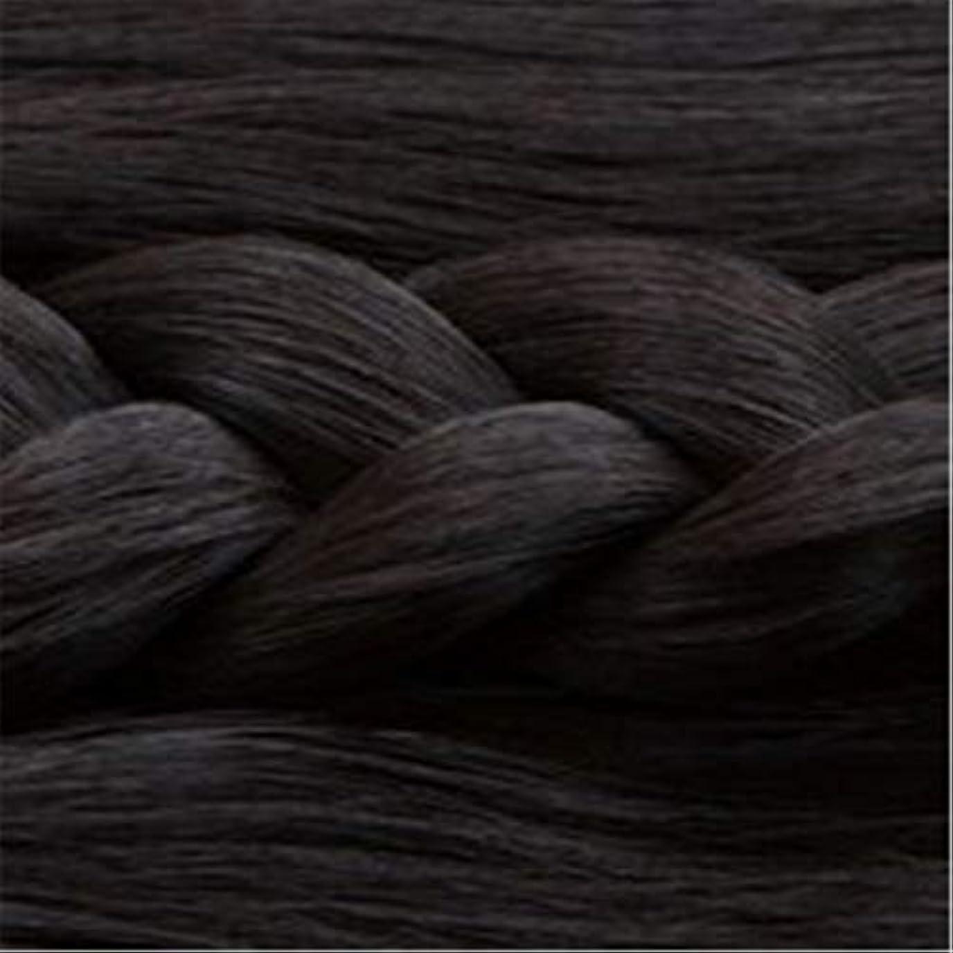 設計お肉眠る女性の長いストレートの髪マイクロ梨かつらのセットをWIG,1