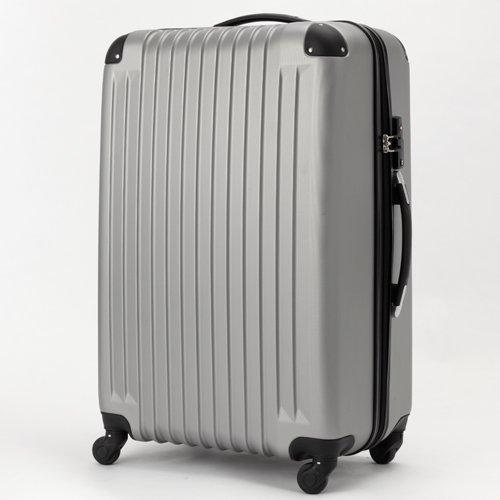 (トラベルデパート) 超軽量スーツケース TSAロック付 (Lサイズ(86L), グレー)