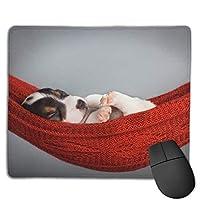 ビーグル子犬オフィス長方形滑り止めラバーマウスパッドエンターテイメントゲーミングマウスパッド用ラップトップディスプレイタブレットキーボード